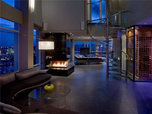 penthouses fireplace designs