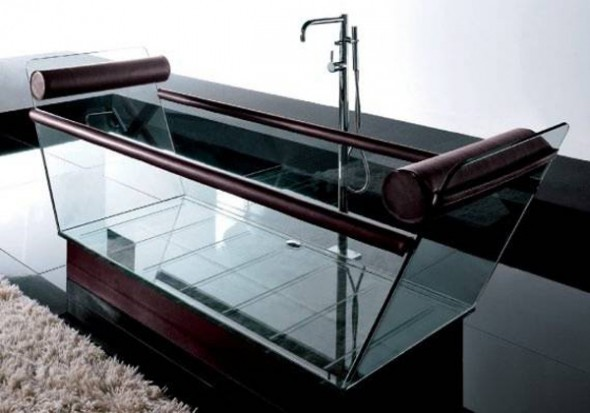unusual glass bathtub