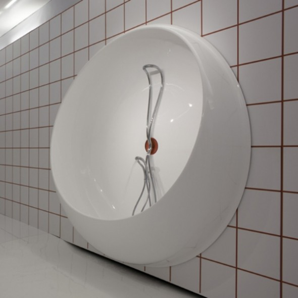 unusual wall bathtub