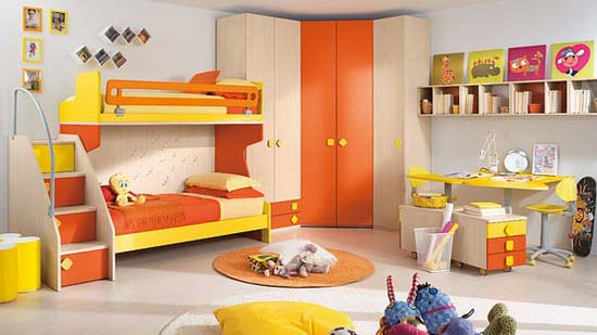 Bedroom design for two childrens