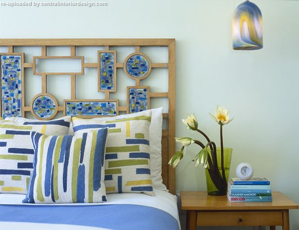 Blue Master Bedroom by Amy Lau Design