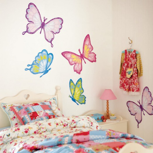 Butterflies on wall sticker for Bedroom