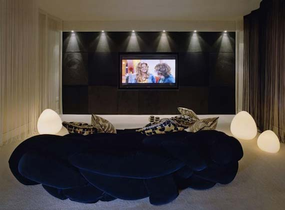 Catchy home theater decoration