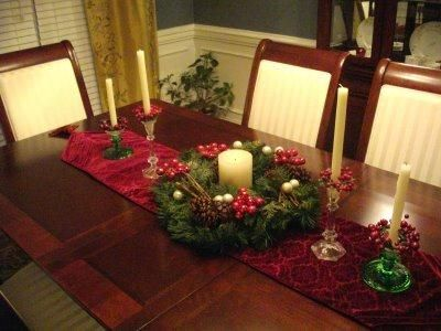 Christmas Dining Table decorating ideas01