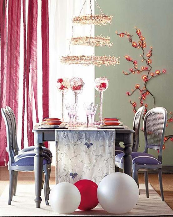 Christmas Dining Table decorating ideas02