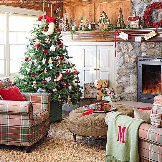 Christmas Living Room Design Ideas With Fireplace