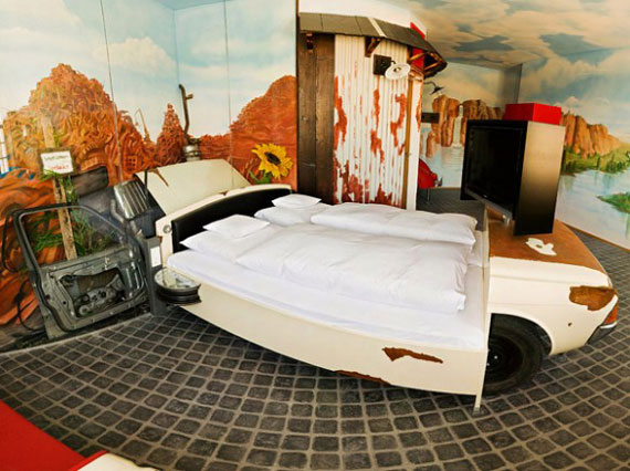 Classic car for bed