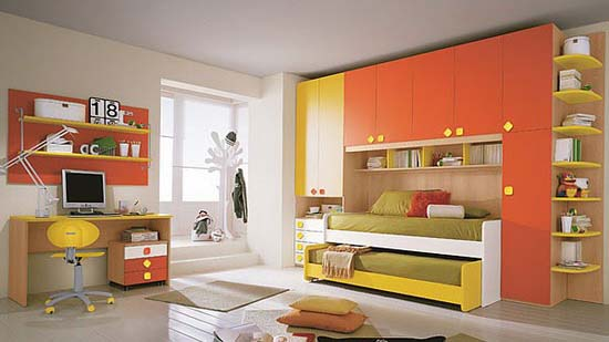 Colorful furniture for boys bedroom