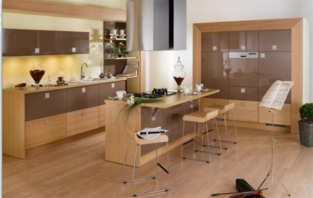 Contemporary+French+Style+Kitchen+Designs+with+music+stand