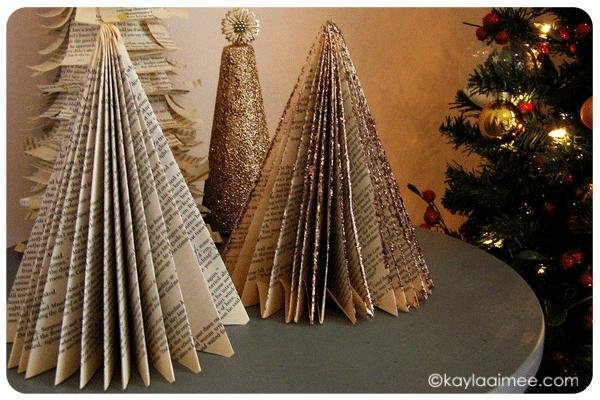 DIY Paperback Christmas Trees