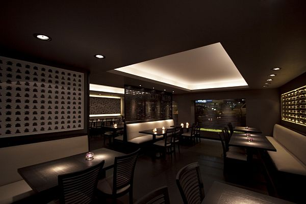 Elegant And Comfortable Lighting Dim Sum Bar Interior Design