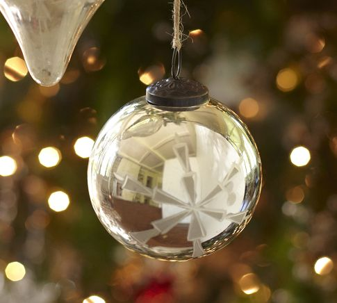 Glass Ball Ornaments Decorate Custom Etched Mercury Glass Ball Ornament Christmas Decorations Image Inspiration Design