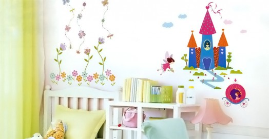 Fairy tale palace of wall sticker for Bedroom