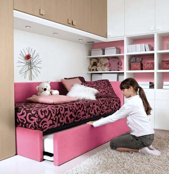 Feminine Pink Bedroom furniture Design