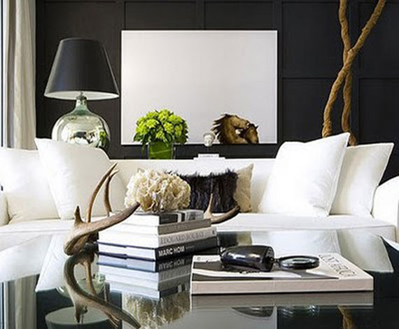 gentle black wall design - Home Interior Wall Design