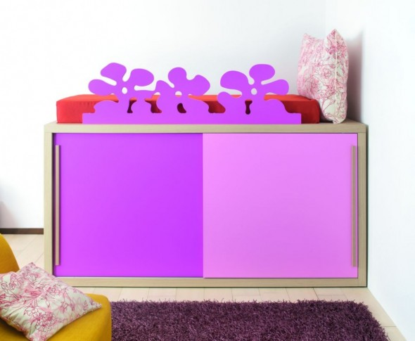 Girly Purple Children Bed