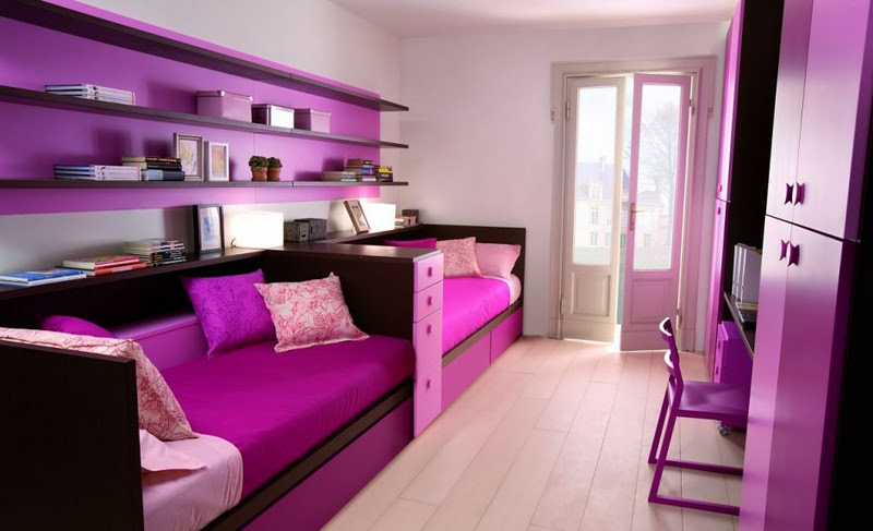 Girly Purple Children Bedroom Set