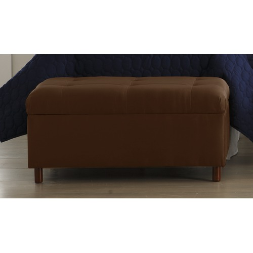 MicroSuede Storage Bench in Chocolate Furniture2