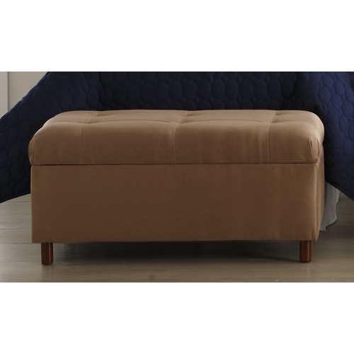 MicroSuede Storage Bench in Khaki Furniture2