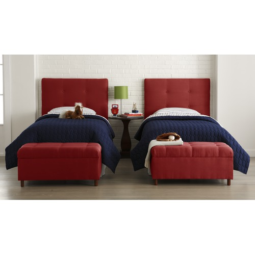 MicroSuede Storage Bench in Red2