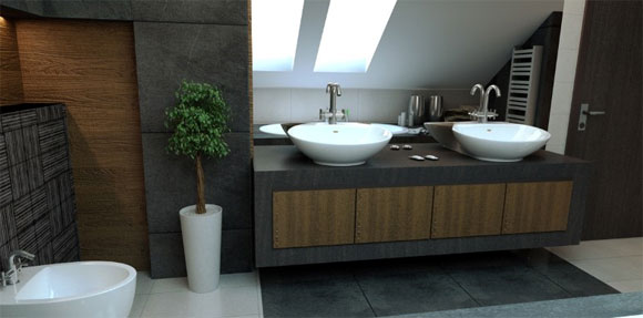 Minimalist Bathroom Interior Decorating by Magdalena2