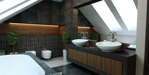 Minimalist Bathroom Interior Decorating by Magdalena4