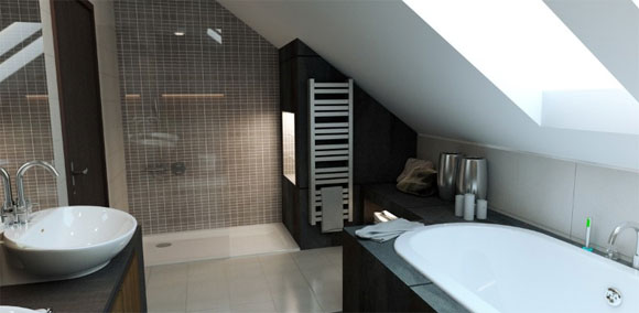 Minimalist Bathroom Interior Decorating by Magdalena5