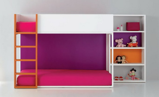 Minimalist and funny kids Bed