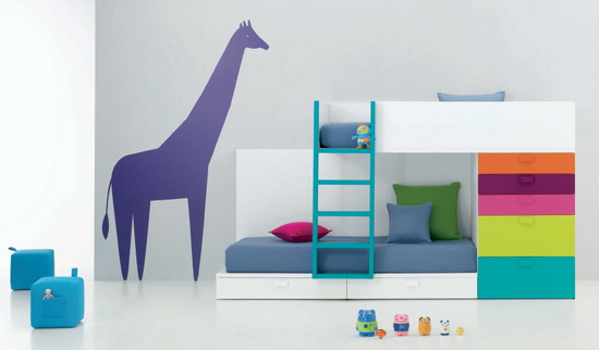 Minimalist and funny kids Bedroom design