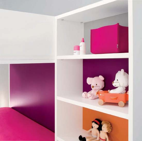 Minimalist and funny bedroom decorating design for children Funny bedroom