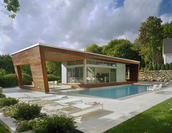 Cozy Green Architecture House Design for Healthy LifeModern Green House in the Poolside