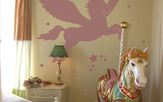 Pegasus on wall sticker for Bedroom