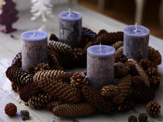 Pine Cones And Candles Arrangement10
