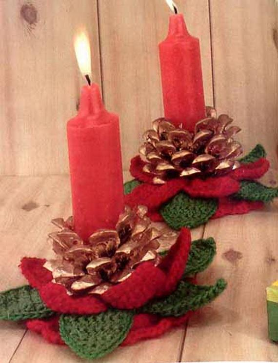 Pine Cones And Candles Arrangement5