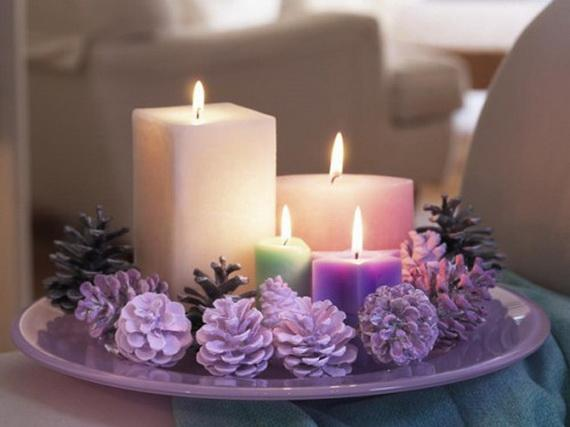 Pine Cones And Candles Arrangement8