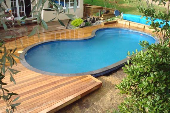 Pool In Low Deck Patio