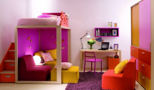 Purple Children Bedrooms Set