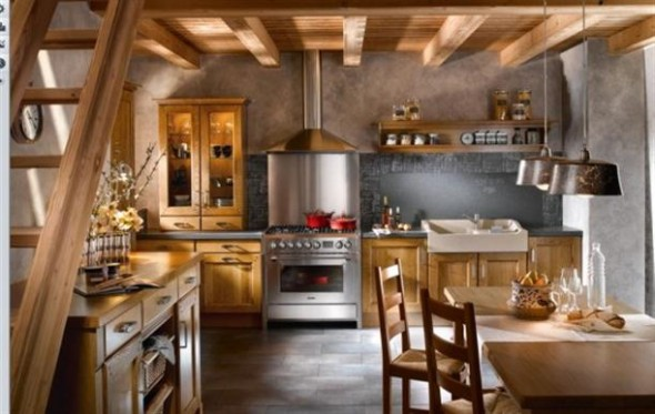 Rustic+Contemporary+French+Style+Kitchen+Designs