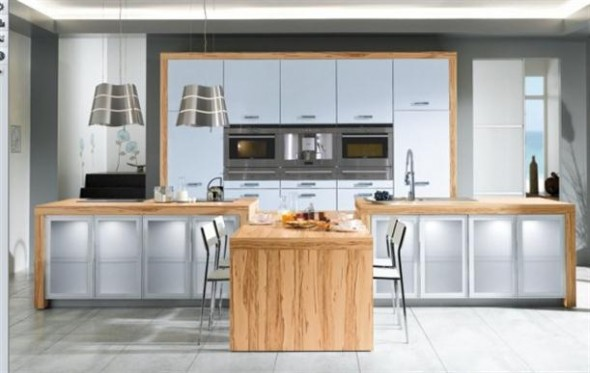 Rustic+style+Contemporary+French+Style+Kitchen+Designs