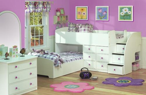 Sierra+Collection+Captain's+Bed+for+Two+with+Stairs-Bedroom Decorating Ideas for Creative Kids Rooms
