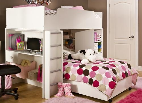 South Shore Logik Loft Bunk Bed in Pure White-Bedroom Decorating Ideas for Creative Kids Rooms