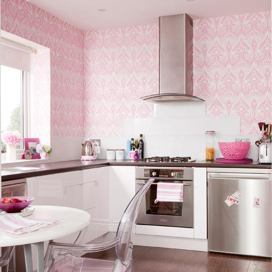 Stylish Pink Kitchen Decoration