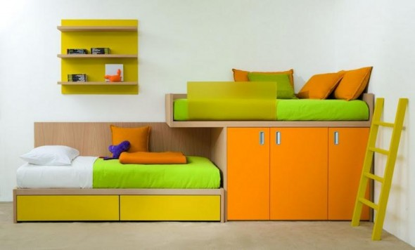 Twins Kids Bedroom Decoration and Design from Dearkids1