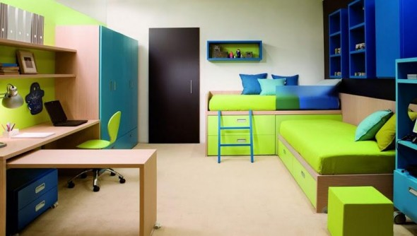 Twins Kids Bedroom Decoration and Design from Dearkids4