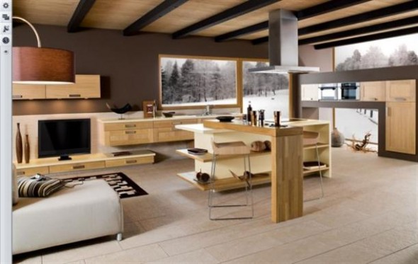 Very+comfortable+Contemporary+French+Style+Kitchen+Designs