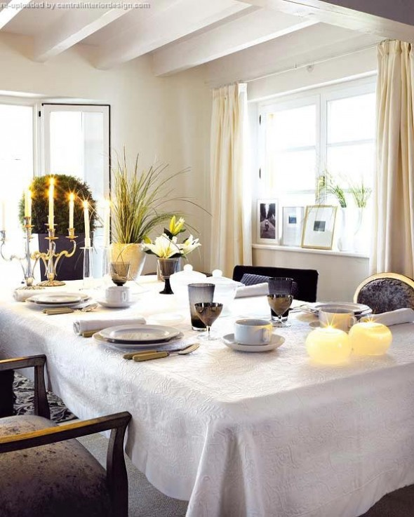 decorating the Christmas table ideas11