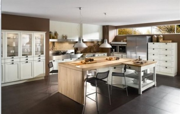 spacious+Contemporary+French+Style+Kitchen+Designs