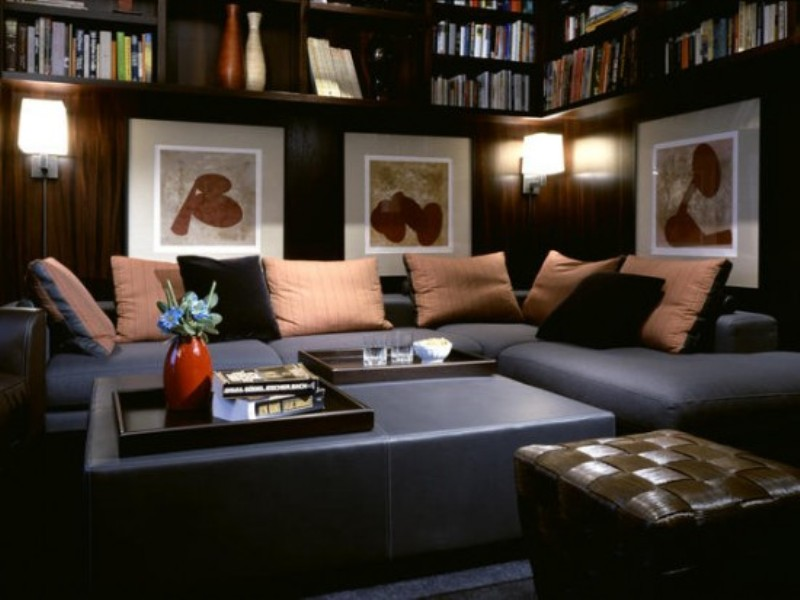 Exotic Black Contemporary Living Room