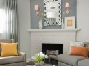 Modern Decorating metallic silver room by Edward Addeo Designer Frances Herrera