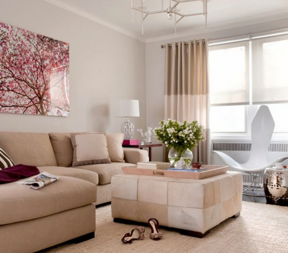 Modern Decorating neutral modern room by Peter Dressel Designer Frances Herrera